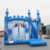 Colorful new design used commercial bounce houses for sale,frozen inflatable bouncers combo slide