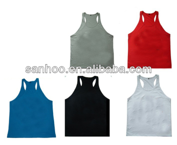100% Cotton Man Fitness Tank Top With Customized Design