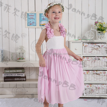 Giggle Moon Remake Boutique Outfits Halter Kids Girls Summer Maxi Dresses