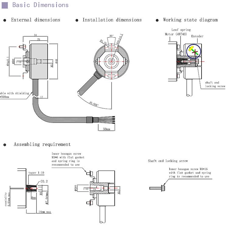Taper shaft optional encoders,Taper encoders,Taper shaft encoders