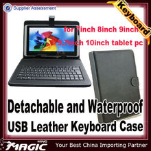 PC tablet leather case with keyboard