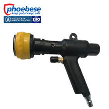 Fast 30 mm inner diameter dunnage air bag inflator with valve lock