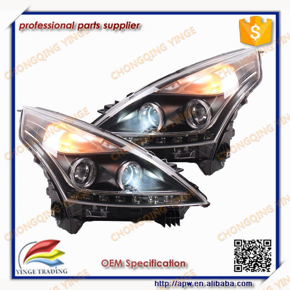 Headlight For Teana Headlamp Led Angel Eyes Front Light For Auto Parts 2008-2012