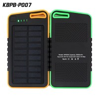 portable power bank solar panel 5000mAh waterproof solar external battery charger