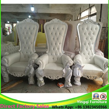 Hot Sale High Back Wedding King And Queen Chair