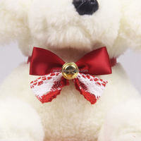 New Create Design Christmas Pet Products Dog Tie Pets Collars Cat Teddy Bow Bell Collar Wholesale New Year Pets Gifts Wholesale