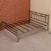 New modern high quality cheap steel metal frame single metal beds