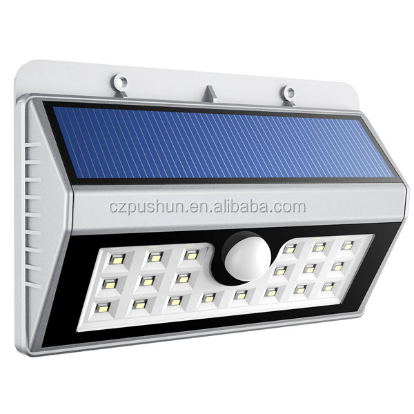 Auto Light Wall Mounted Motion Sensor Led Solar Wall Light Outdoor