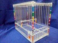 Rectangle Pet Cages, Carriers & Houses acrylic design bird cage wire mesh bird breeding cage wholesale