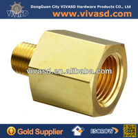 "Brass Pipe Fitting, Reducing Adapter, 1/4"" NPT Female X 1/8"" NPT Male"