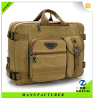 2016 hot selling zip pocket canvas laptop briefcase for men