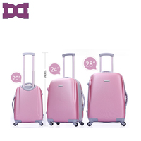 ABS Aluminum Metal Trolley Beauty Luggage