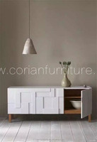 Custom sized acrylic solid surface luxurious design sideboard