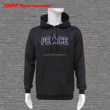 Wholsale Mens Plain Black Pullover Hoody with High Quality