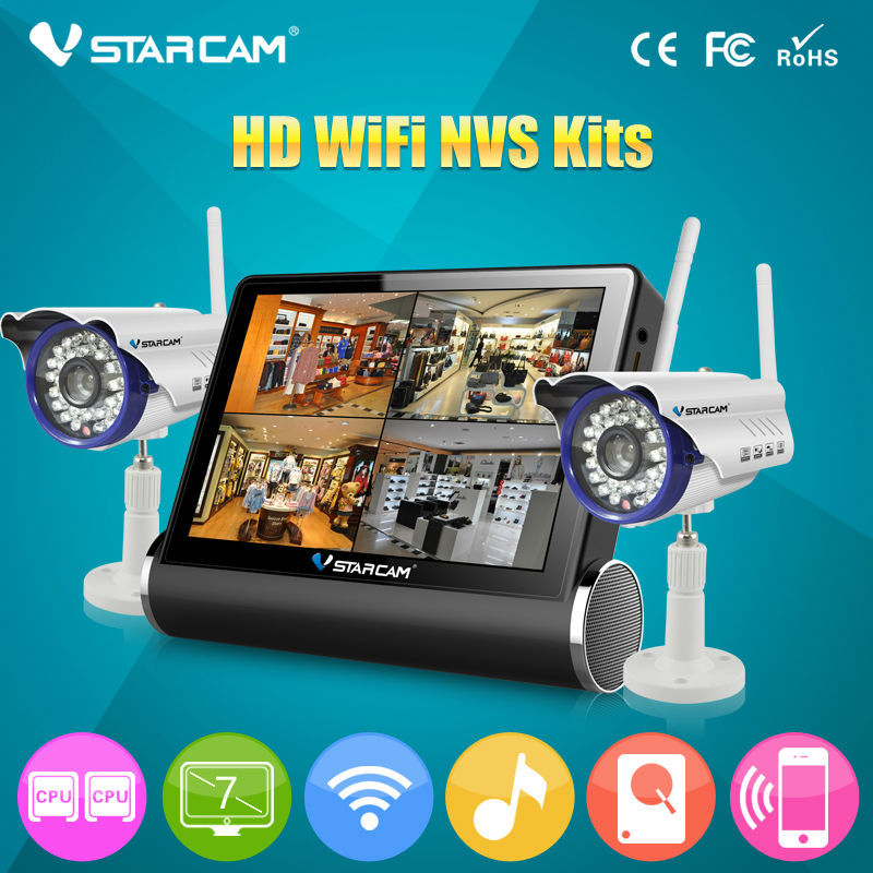 Trade Assurance Supplier VStarcam Video wifi NVR DVR 1080P Home Surveillance Security camera system Wifi IP cameras nvs