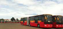 Euro 5 18m 40+1 seats JAC luxury CNG city bus for sale