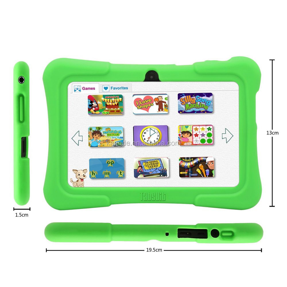 "shockproof silicone case for 7"" Quad Core Android Kids Tablet, rugged silicone case for Dragon Touch 7"" tablet, kids proof case"