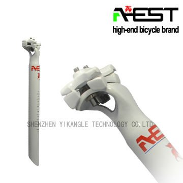 White Painting Bicycle Seat Post