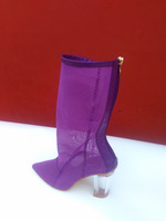 CX340 ladies latest clear heel dressing boot
