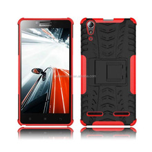 pc tpu case for lenovo A6000, tyre lines cover for lenovo A6000, hybrid kickstand case for lenovo A6000