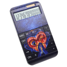 Office Gifts 12 Digits Dual Power Nice Monkey Printing Desktop Calculator