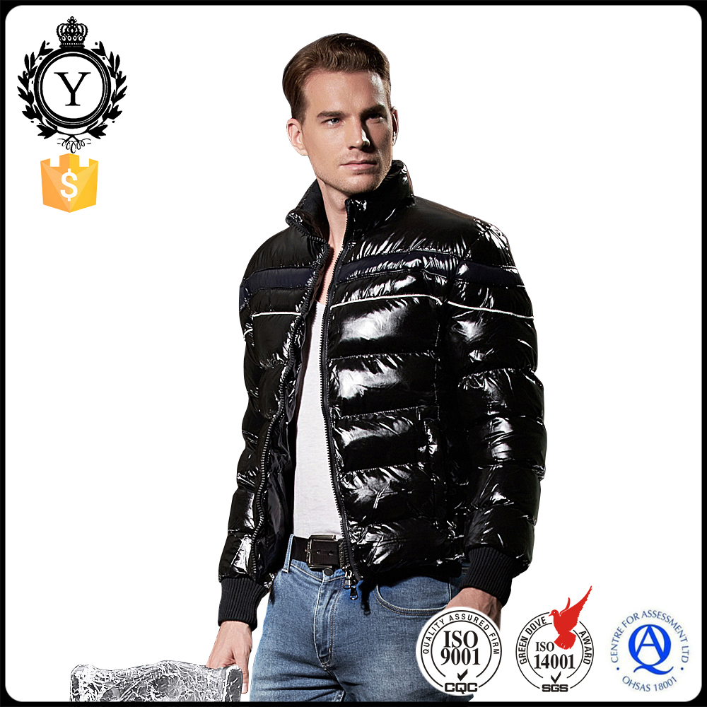 2016 COUTUDI Fashion Black Windbreaker Western Comfy Ultra Thin Shiny Winter Down Jacket
