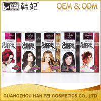 Good quality family pack hair color cream natural not faded non-toxic hair color