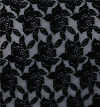 Well Designed lace fabric black flocking flocking lace fabric