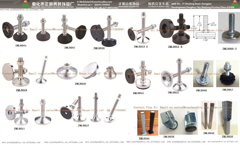 M20 Rubber Table Leg Adjustable Metal Table Leg Levelers