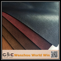 Faux two tone pu leather Embossed imitation crocodile leather