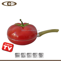 Deep frying pan with glass lid