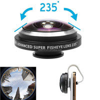 Universal mobile phone 235 Degree Super Fisheye Clip Lens for iPhone 6 5S 5 4S for Samsung Galaxy S3 S4 S5 s6