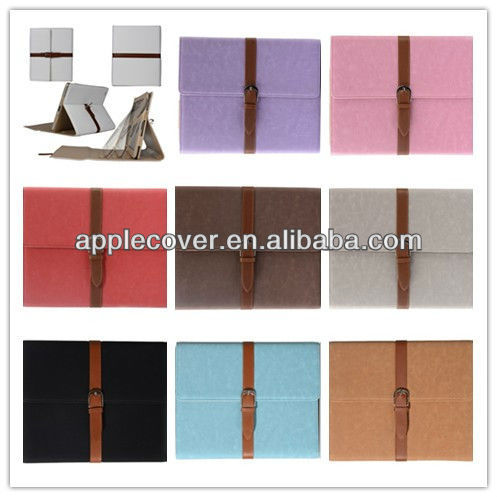 for Ipad 2 Leather Case Pink with Stand