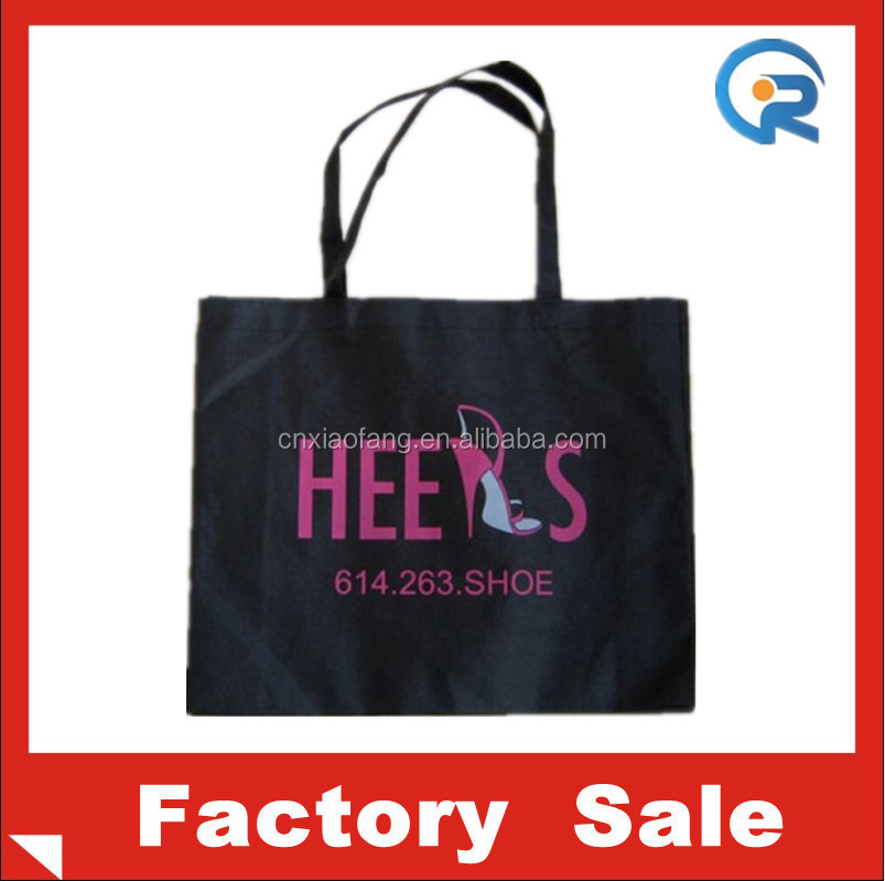 Cheapest recycle material printed non woven tote bag/shopping bag