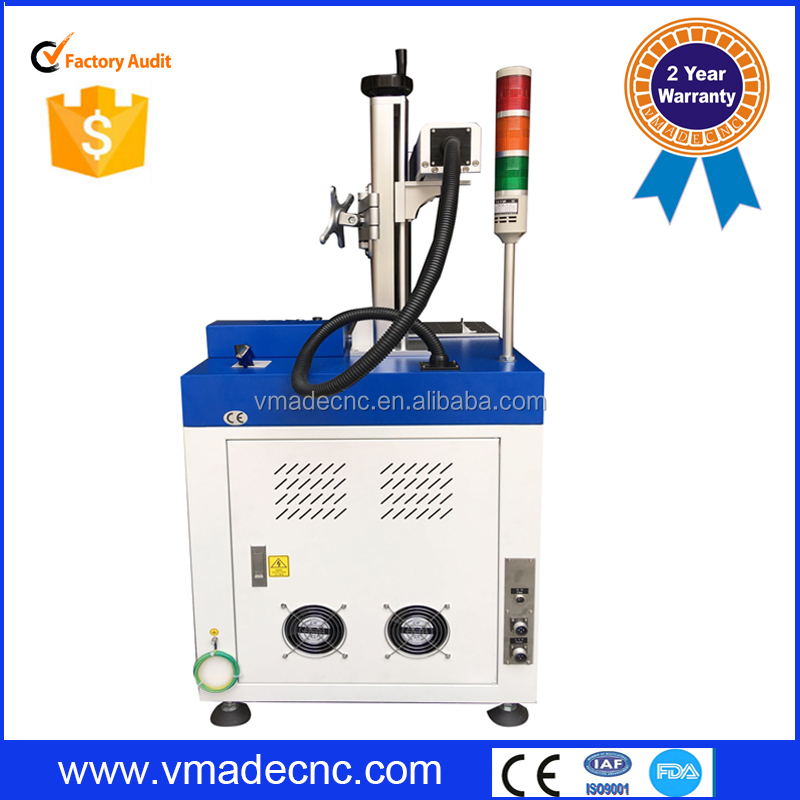 High speed 10W 20W 30W desktop mobile phone keypad Vertical Type Fiber laser marking machines marker