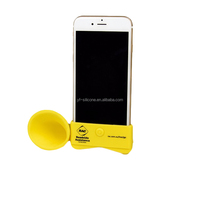 Latest design products mini mobile phone amplifier speaker,silicone loudspeaker for phone ,best selling cute silicone amplifier