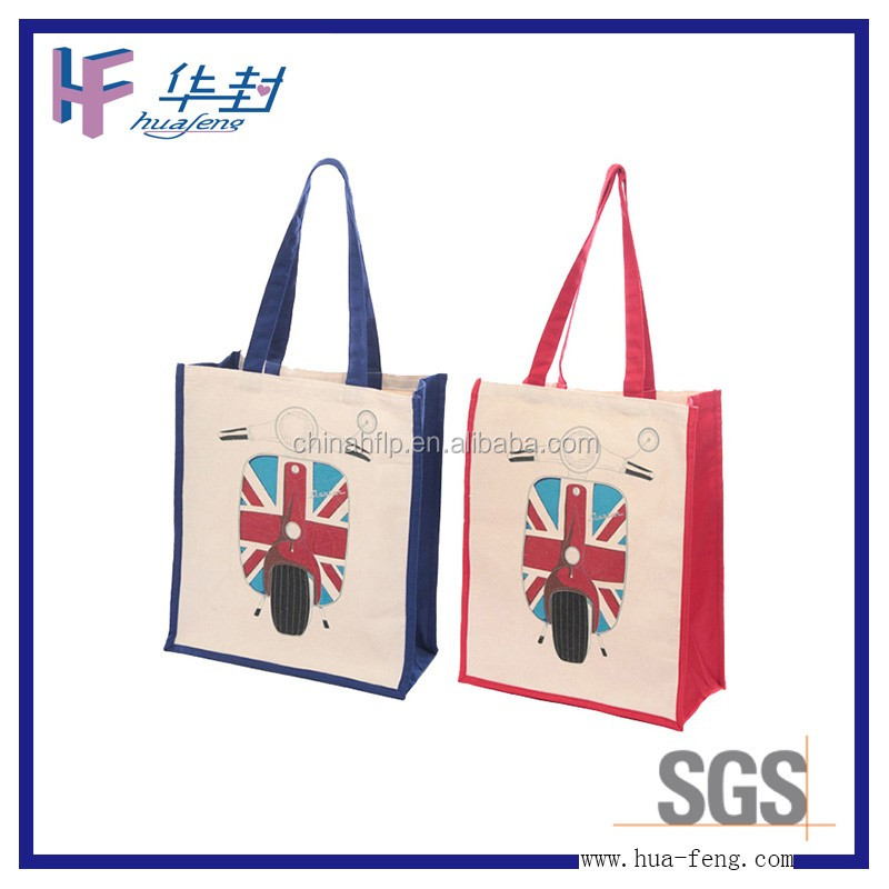 Trendy mini wholesale cotton fabric bag