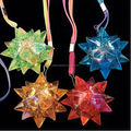 LED Light Up Jelly Spike Star Lanyard Necklace