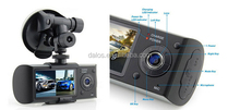 Hot Sale in Korea 2.7 Inch LCD Screen Car DVR X3000 with G-sensor Dual Lens