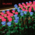 outdoor ce fcc saso colorful led rose flower light for holiday