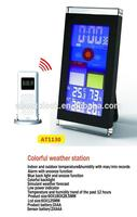 Colorful screen weather station with indoor and outdoor temperature&humidity
