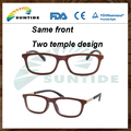 2017 Hot Sale Wood Eye Glasses Frame with Two Temple Design