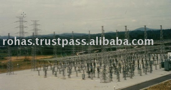 Electrical Switchyard Structures Steel Lattice Towers
