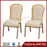 China wholesale hot sale in Europe linen fabric gold pipe aluminum chair YCX-B88