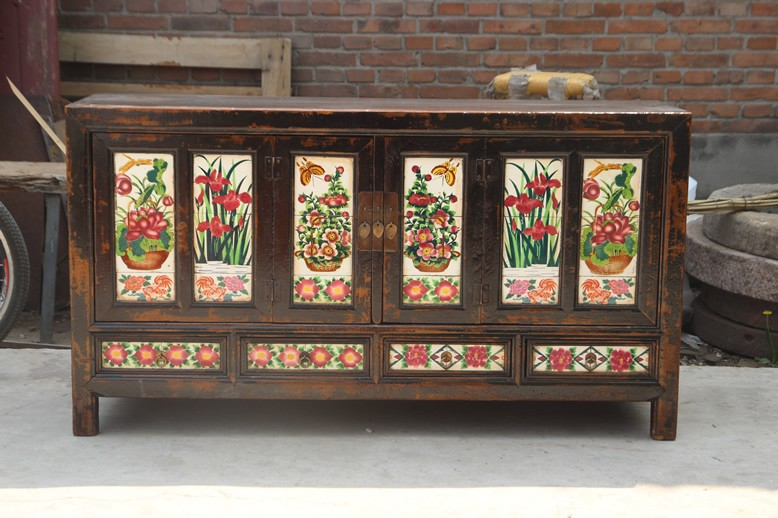 Chinese Antique Style Furniture Tibet Cabinet