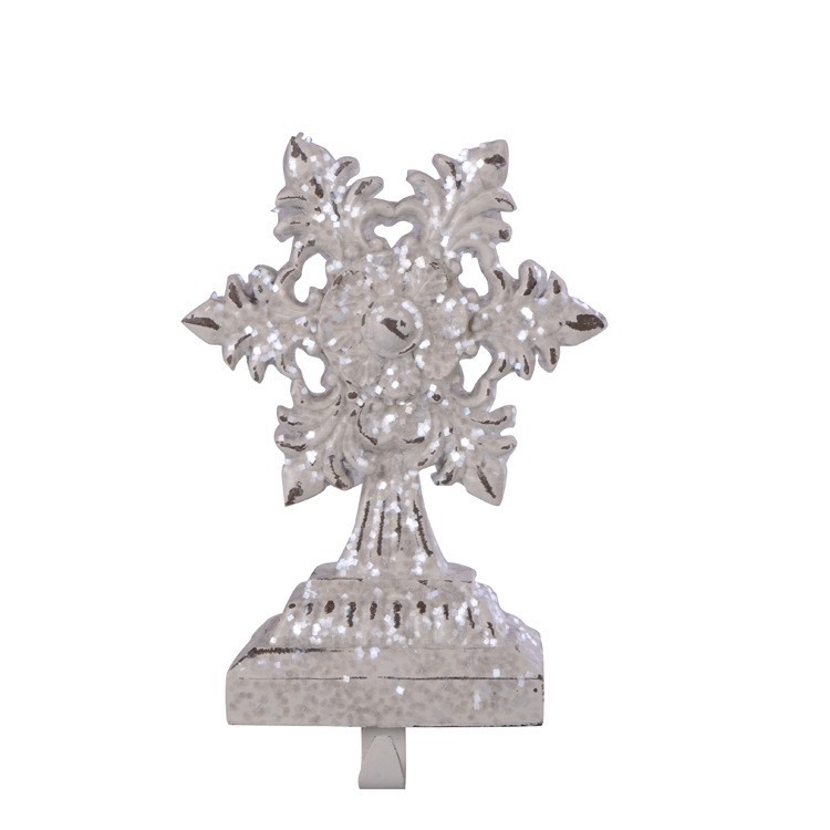 Best selling victorian christmas decorations nice unique luxurious retro Resin Snowflake Hooks