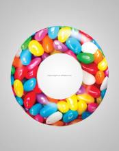 jelly beans candy inflatable swim ring / swim tube