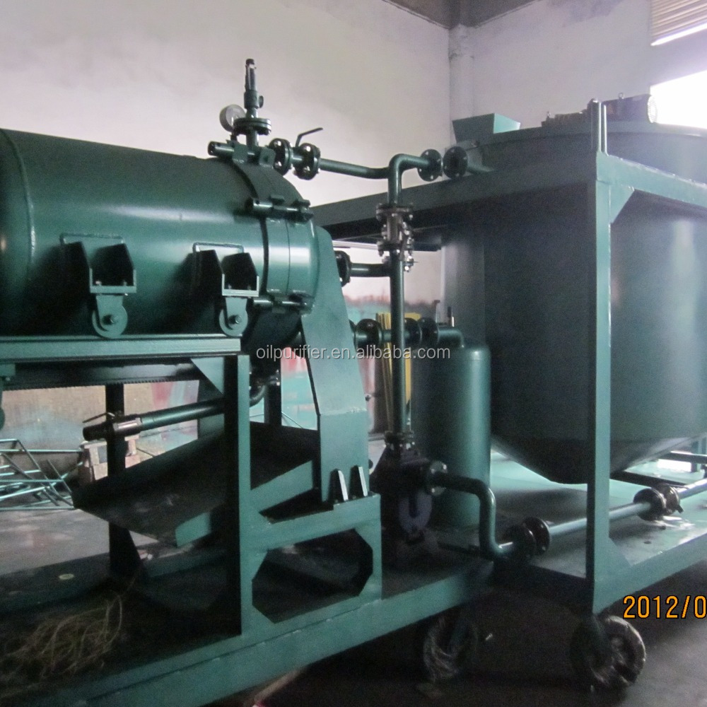 waste engine recycling unit / black motor oil regeneration purification/ decolor oil filtration plant