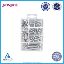 China Manufacture Assorted 102PCS Zinc Plated Machine Screw,Nut With Flat Washer