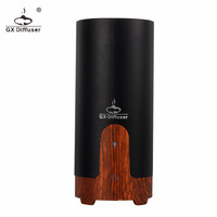 Aromatherapy essential oil diffuser in wood grain base car charger aroma diffuser air fresher